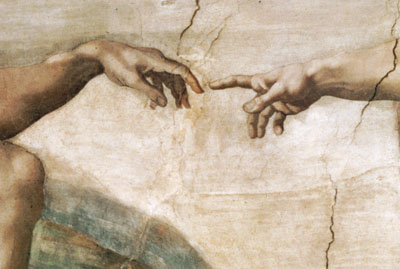 55177-Michelangelo Buenarroti-The Creation of Adam